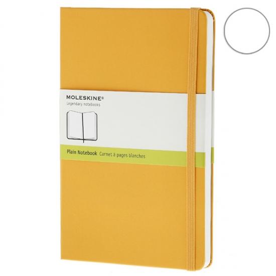 Фото - Блокнот Moleskine Classic средний нелинованные Оранжевый купить в киеве на подарок, цена, отзывы