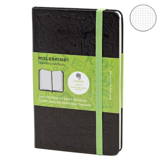Фото - Блокнот Moleskine Evernote маленький черный купить в киеве на подарок, цена, отзывы