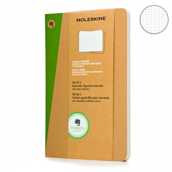 Фото - Блокнот Moleskine Evernote средний бежевый купить в киеве на подарок, цена, отзывы