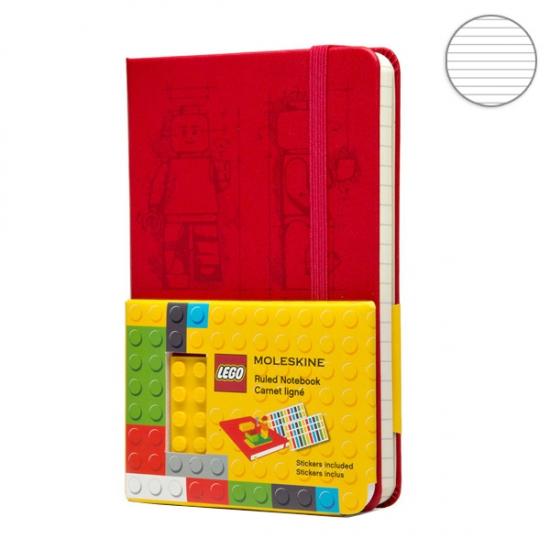 Фото - Блокнот Moleskine LEGO-14 карманный Линейка Красный купить в киеве на подарок, цена, отзывы