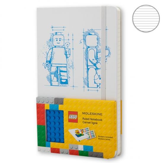 Фото - Блокнот Moleskine LEGO-14 средний Линейка Белый купить в киеве на подарок, цена, отзывы