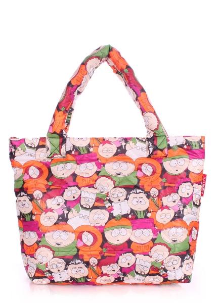 Фото - Болоньевая сумка на синтепоне SouthPark купить в киеве на подарок, цена, отзывы