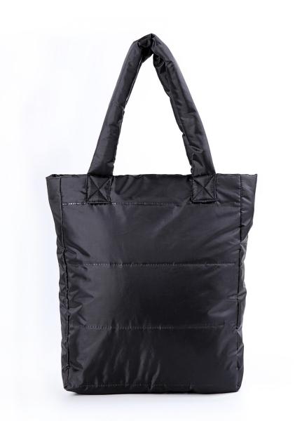 Фото - Болоньевая сумка на синтепоне черная Black купить в киеве на подарок, цена, отзывы