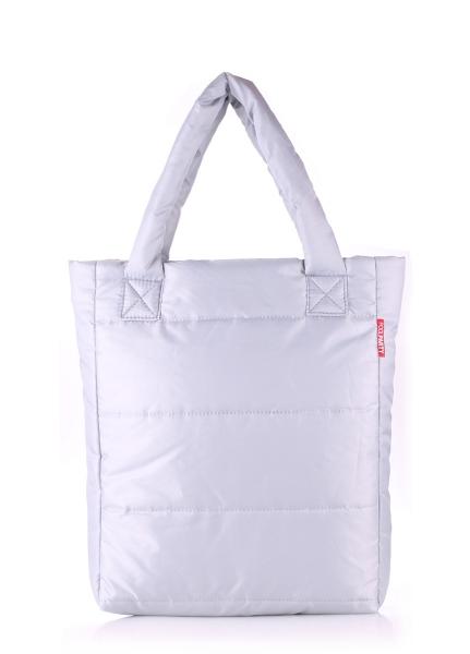 Фото - Болоньевая сумка на синтепоне черная Grey купить в киеве на подарок, цена, отзывы