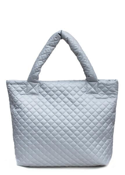 Фото - Болоньевая сумка на синтепоне серая Eco  купить в киеве на подарок, цена, отзывы