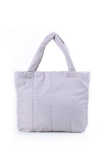 Фото - Болоньевая сумка на синтепоне серая Pool купить в киеве на подарок, цена, отзывы