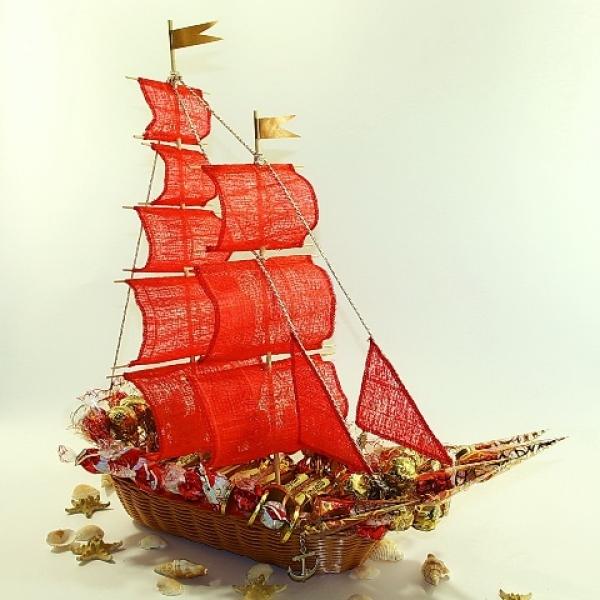 Фото - Букет из цветов Алые Паруса  купить в киеве на подарок, цена, отзывы