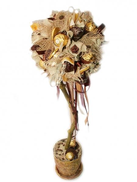 Фото - Букет из цветов Дерево сладостей купить в киеве на подарок, цена, отзывы