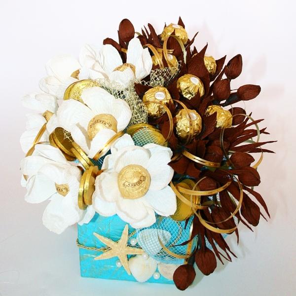 Фото - Букет из конфет Голубая лагуна купить в киеве на подарок, цена, отзывы