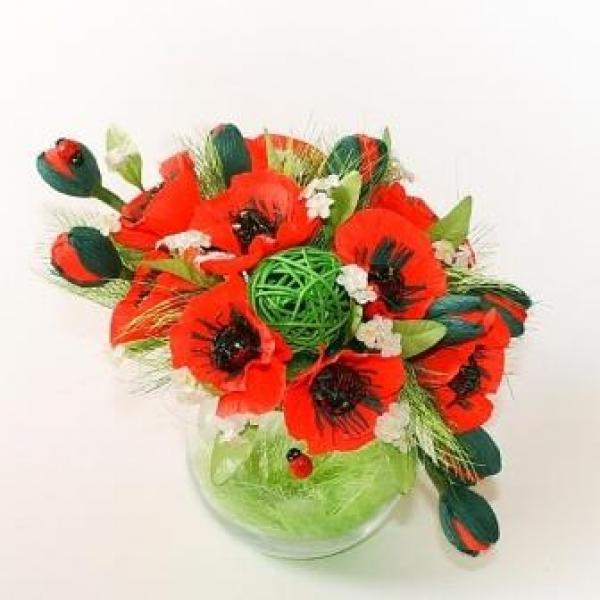 Фото - Букет из конфет Маки купить в киеве на подарок, цена, отзывы