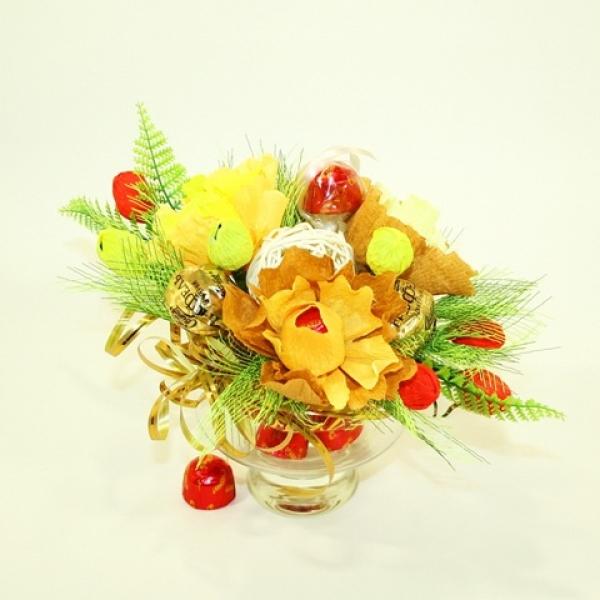 Фото - Букет из конфет Осенние краски купить в киеве на подарок, цена, отзывы