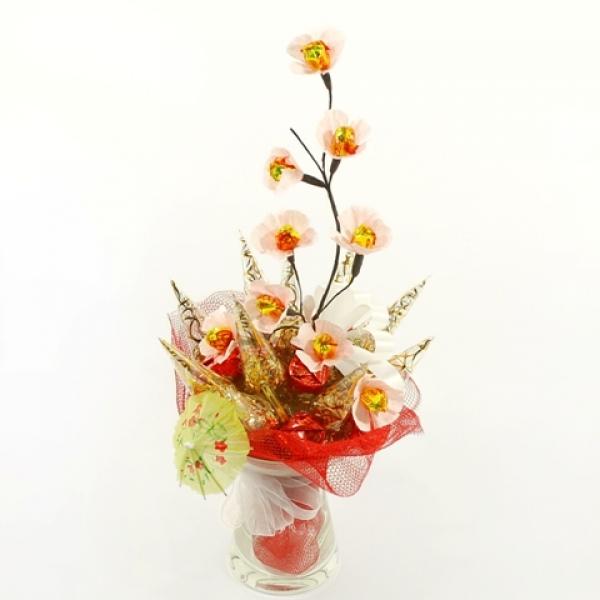 Фото - Букет из конфет Сакура купить в киеве на подарок, цена, отзывы