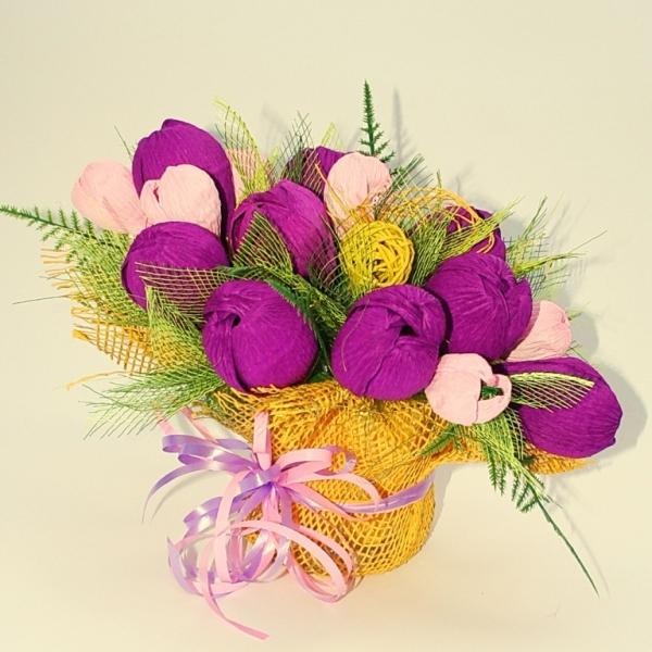 Фото - Букет из конфет Тюльпанчики купить в киеве на подарок, цена, отзывы