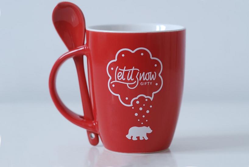Фото - Чашка+ложка Bear купить в киеве на подарок, цена, отзывы