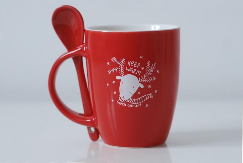 Фото - Чашка+ложка Deer купить в киеве на подарок, цена, отзывы