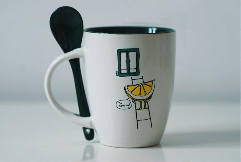 Фото - Чашка+ложка Lemon купить в киеве на подарок, цена, отзывы