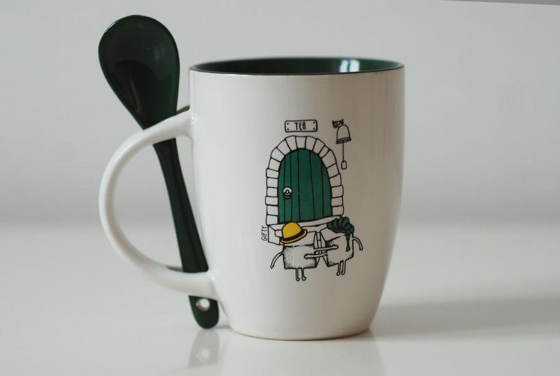 Фото - Чашка+ложка Sugar купить в киеве на подарок, цена, отзывы