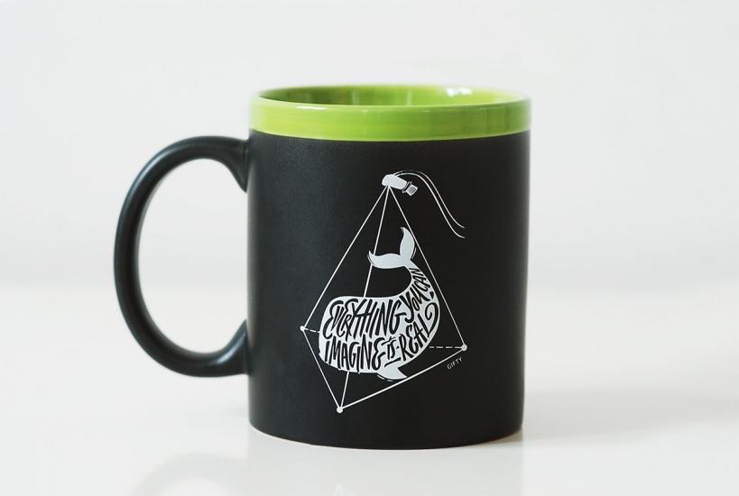 Фото - Чашка Everything you can imagine is real Green купить в киеве на подарок, цена, отзывы