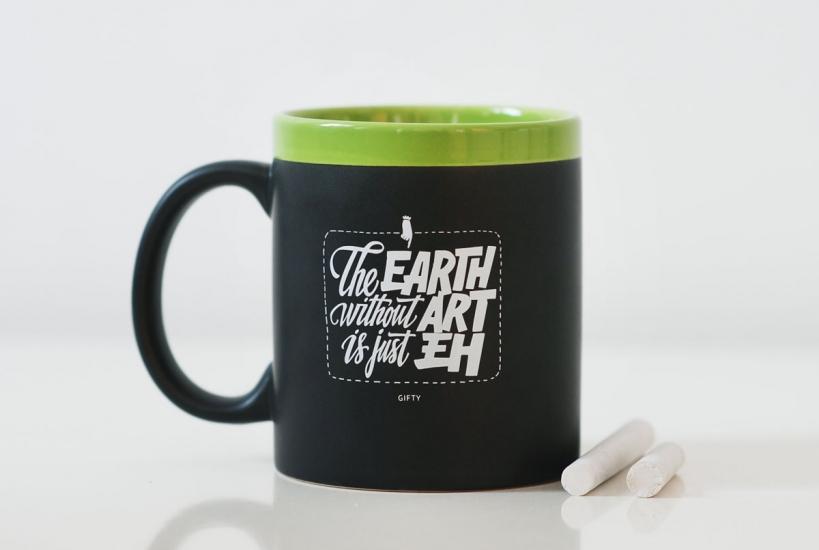 Фото - Чашка The Earth without art is just eh  Green купить в киеве на подарок, цена, отзывы