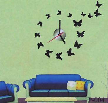 Фото - Часы наклейки на стену бабочки купить в киеве на подарок, цена, отзывы