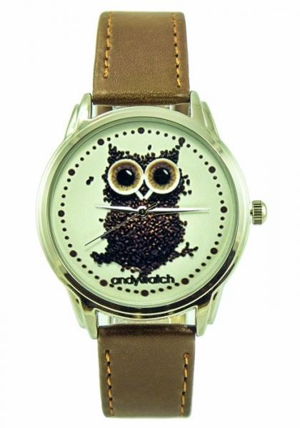 Фото - Часы наручные Сова из кофе купить в киеве на подарок, цена, отзывы