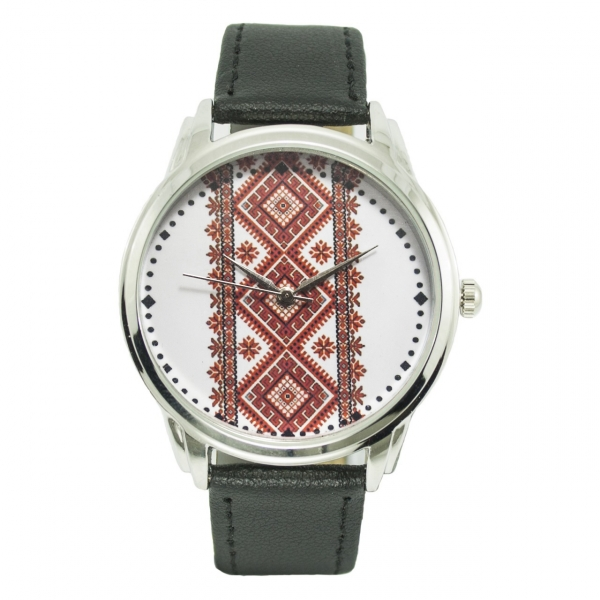 Фото - Часы наручные красная вышиванка купить в киеве на подарок, цена, отзывы