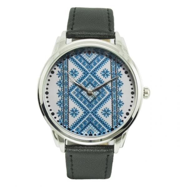 Фото - Часы наручные синяя вышиванка купить в киеве на подарок, цена, отзывы
