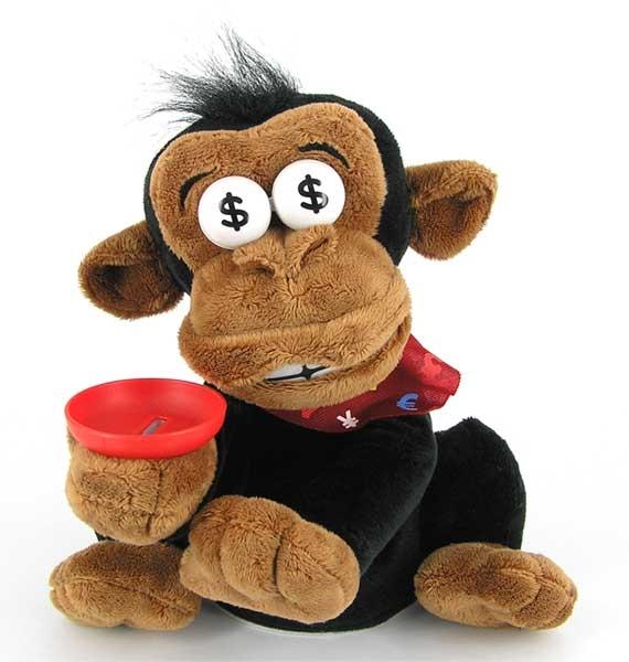 Фото - Дай денег - обезьяна хохотун - копилка купить в киеве на подарок, цена, отзывы