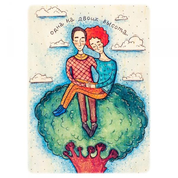 Фото - Деревянная открытка Одна высота купить в киеве на подарок, цена, отзывы
