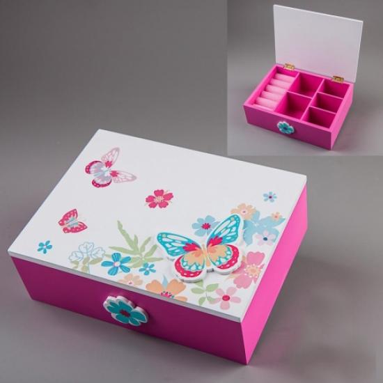 Фото - Деревянная шкатулка Бабочки 18х14х6см купить в киеве на подарок, цена, отзывы