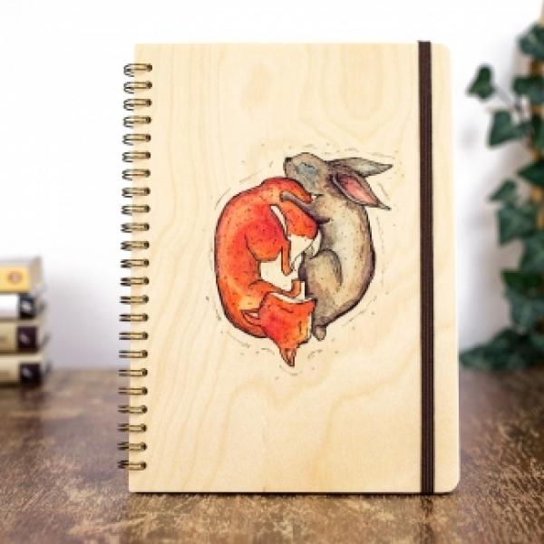 Фото - Деревянный блокнот Инь и ян купить в киеве на подарок, цена, отзывы