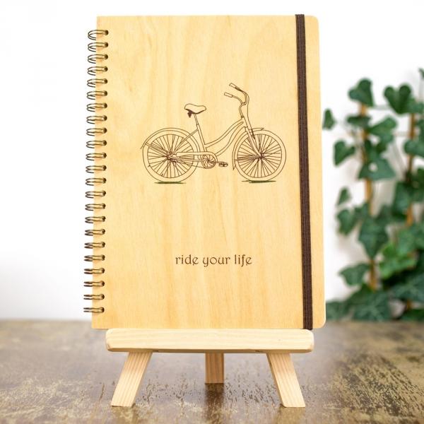 Фото - Деревянный блокнот Ride your life купить в киеве на подарок, цена, отзывы