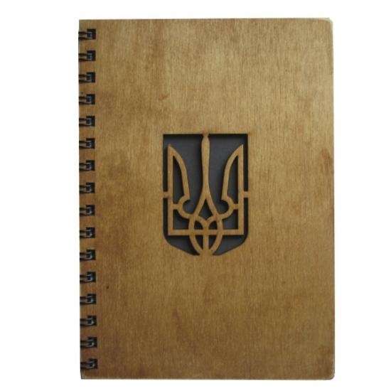 Фото - Деревянный блокнот Трезубец купить в киеве на подарок, цена, отзывы