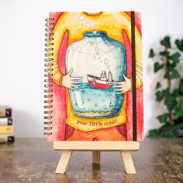 Фото - Деревянный блокнот Your little ocean купить в киеве на подарок, цена, отзывы