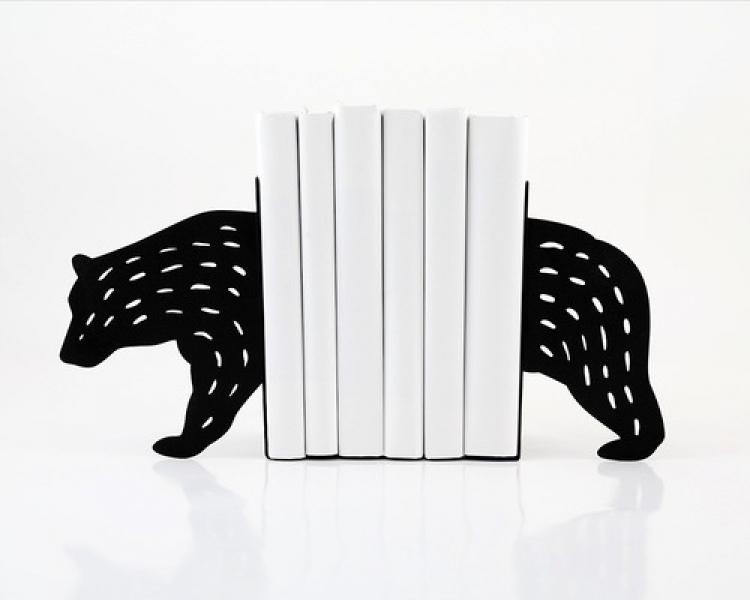 Фото - Держатель для книг Медведь черный купить в киеве на подарок, цена, отзывы