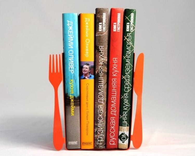 Фото - Держатель для книг Нож и вилка купить в киеве на подарок, цена, отзывы