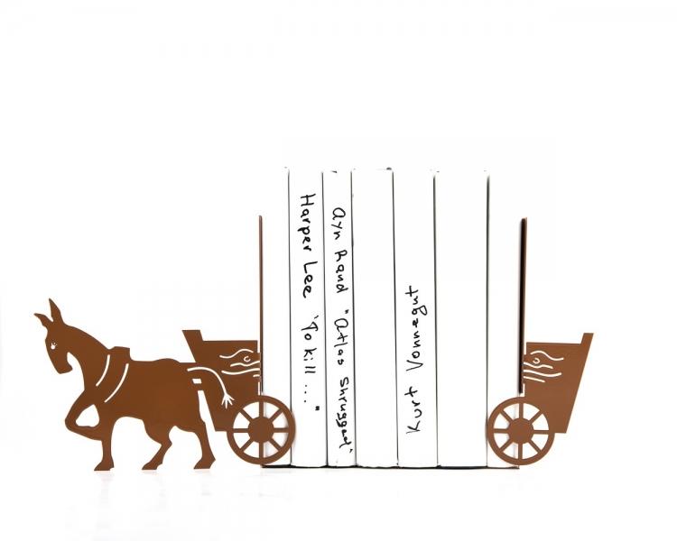 Фото - Держатель для книг Ослик с повозкой купить в киеве на подарок, цена, отзывы