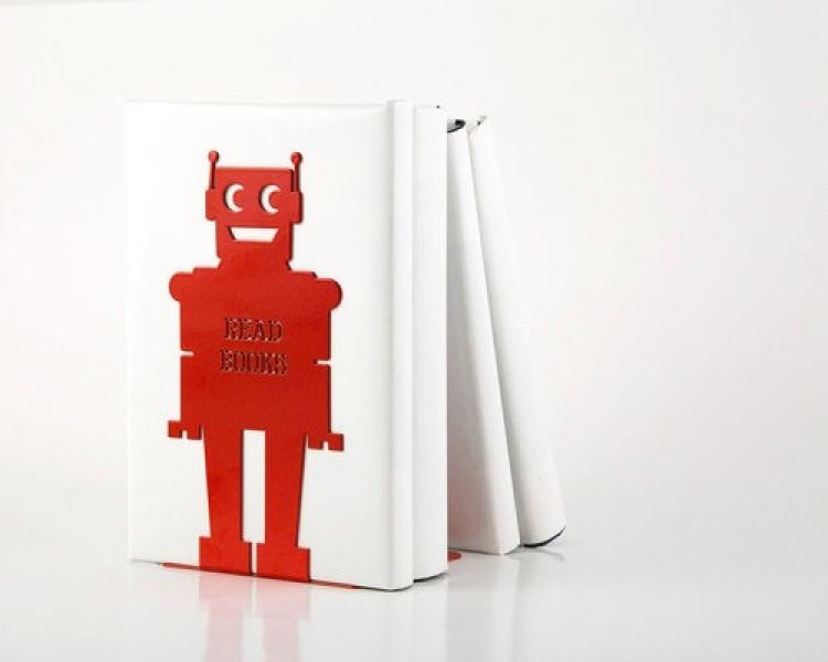 Фото - Держатель для книг Робот красный купить в киеве на подарок, цена, отзывы