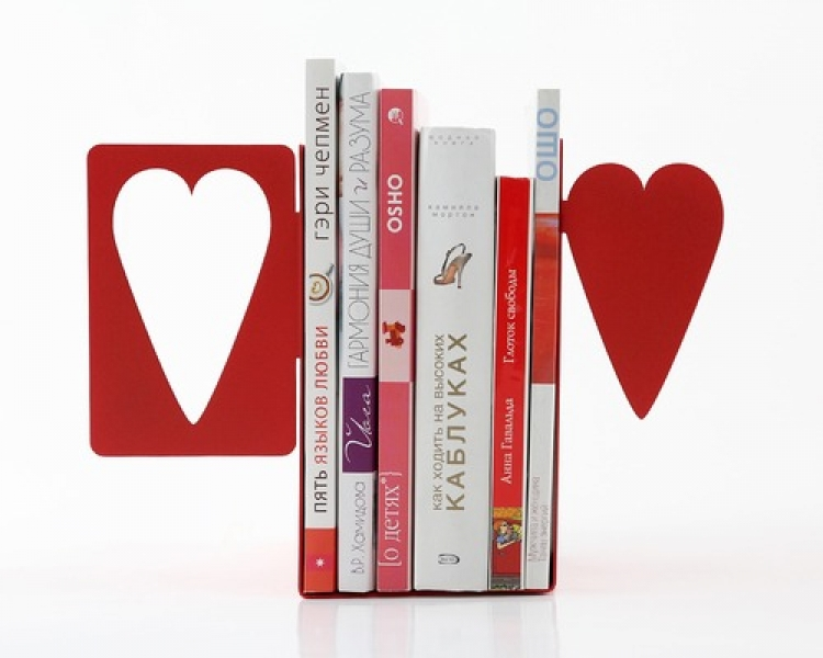 Фото - Держатель для книг Сердце купить в киеве на подарок, цена, отзывы