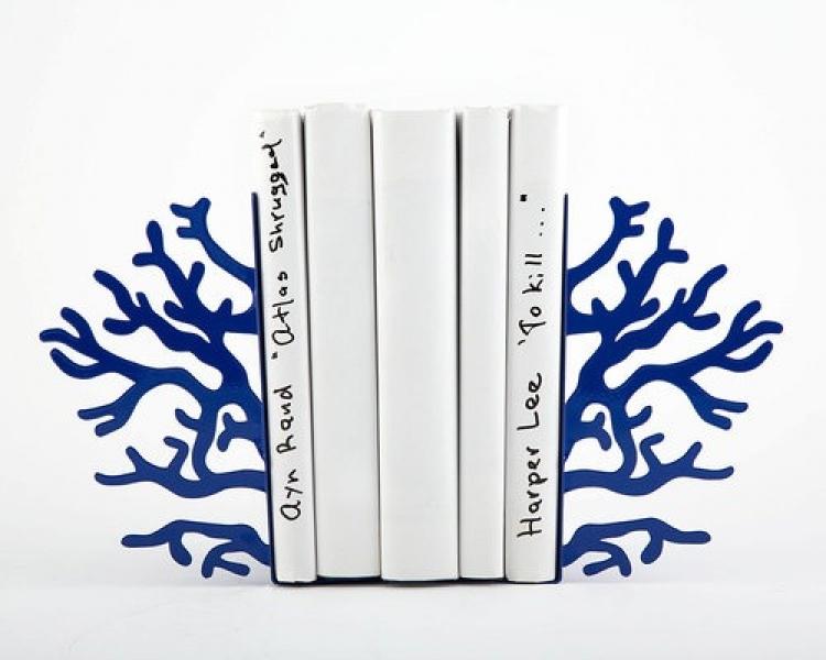 Фото - Держатель для книг Синий коралл купить в киеве на подарок, цена, отзывы