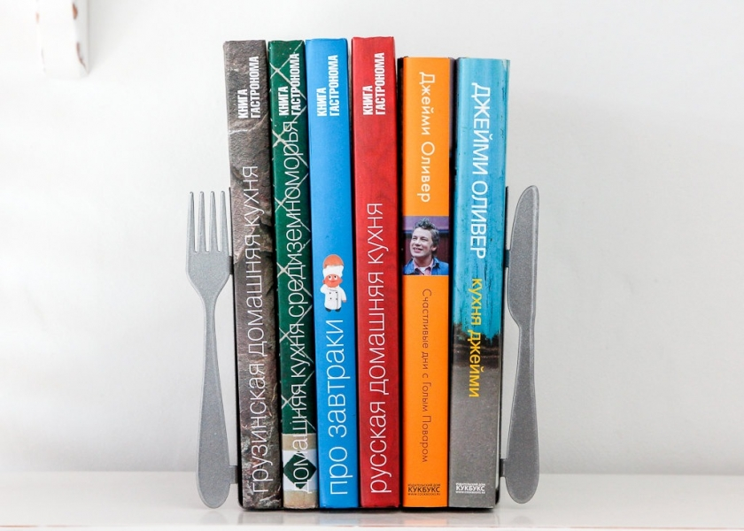 Фото - Держатель для книг Вилка и ложка купить в киеве на подарок, цена, отзывы