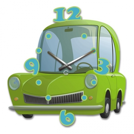 Фото - Детские настенные часы Car купить в киеве на подарок, цена, отзывы