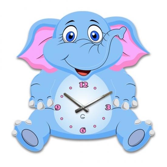 Фото - Детские настенные часы Elephant купить в киеве на подарок, цена, отзывы