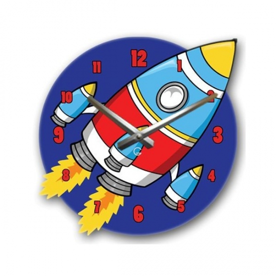 Фото - Детские настенные часы Rocket купить в киеве на подарок, цена, отзывы