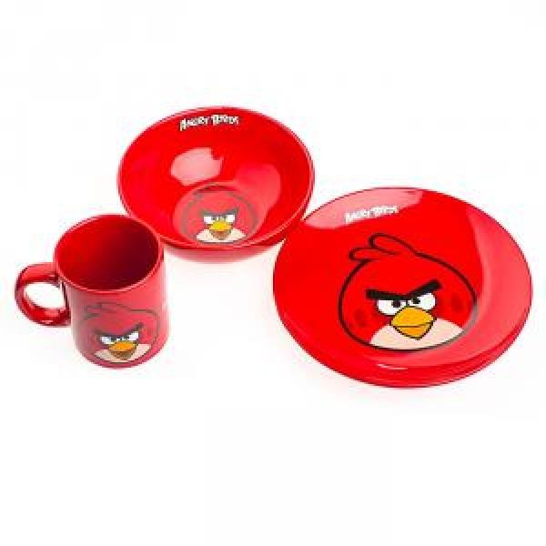 Фото - Детский набор посуды Angry Birds красный купить в киеве на подарок, цена, отзывы