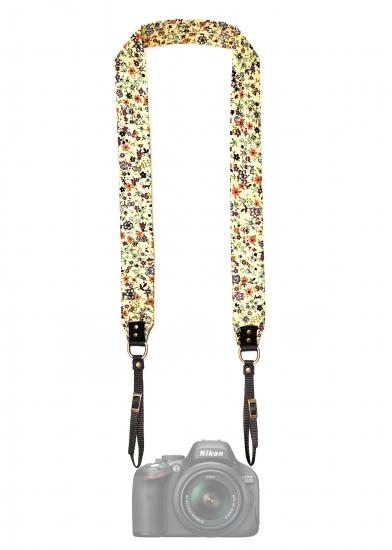 Фото - Дизайнерский ремень для фотоаппарата цветочный мед купить в киеве на подарок, цена, отзывы