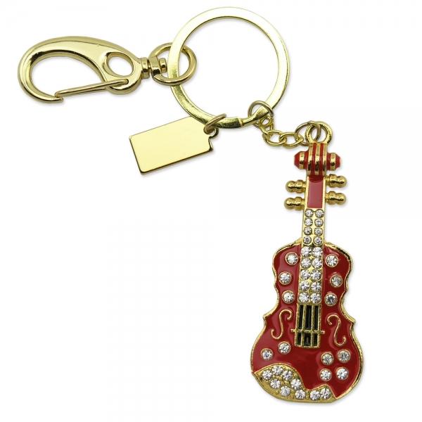 Фото - Флешка 16 Gb металл со стразами Гитара купить в киеве на подарок, цена, отзывы
