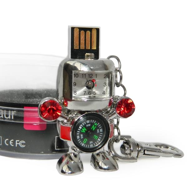 Фото - Флешка 8 Gb металл Робот с часами и компасом купить в киеве на подарок, цена, отзывы