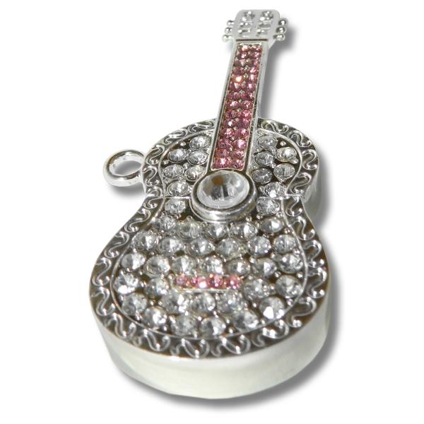 Фото - Флешка 8 Gb металл со стразами Гитара купить в киеве на подарок, цена, отзывы