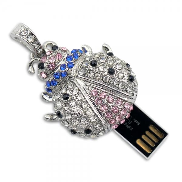 Фото - Флешка 8 Gb металл со стразами Жучок купить в киеве на подарок, цена, отзывы